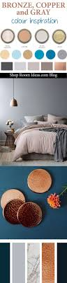 Bronze, Copper, Gray And Navy Blue Colour Palette   Inspiration For Bedrooms,  Living Rooms, Hallways, And Bathrooms.