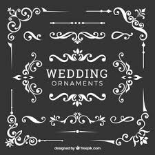 Wedding Ornaments Collection In Flat Design Vector Free Download