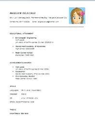 Examples Of Simple Resumes Resume Example Sample Soaringeaglecasino Us