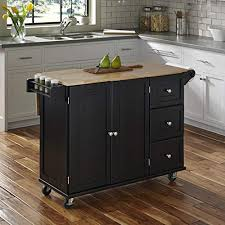 Kitchen islands with breakfast bar Seating Home Styles 451095 Liberty Kitchen Cart With Wood Top Black Amazoncom Kitchen Island With Breakfast Bar Amazoncom