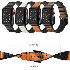 leather silicone watch strap for apple watch series 4 3 2 1 bands 42 38 44 40mm iwatch watchband bracelet wrist belt accessories best watch straps best
