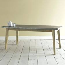 zinc top dining table round
