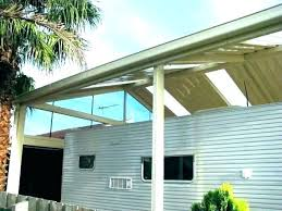 pergola with clear roof clear corrugated