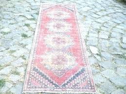 pink runner rug pink r rug nursery vintage x inches dusty pale border pink persian runner