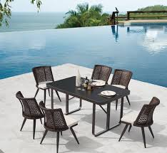 bedroomexciting small dining tables mariposa valley farm. Evian Modern Outdoor Small Dining Set For 6 Bedroomexciting Tables Mariposa Valley Farm