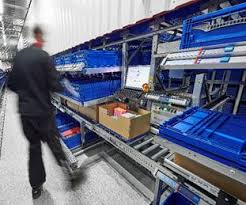 photo essay coop s new automated warehouse in packaging  coop picks small volume items witron s dps directly into the shipping carton in both