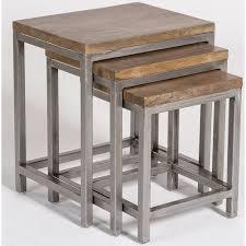 nesting end tables. Alder \u0026 Tweed Gramercy Industrial Style Nesting End Tables I