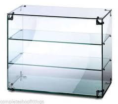 heavy duty countertop ambient glass sweet food display cabinet case 900w x 350d x 490h mm for