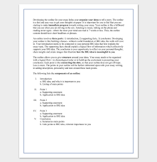 essay outline templates samples examples and formats sample college essay outline template