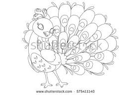 beautiful pea cartoon outline drawing to color