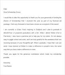 how to write a thank you letter for a scholarship thank you note  how