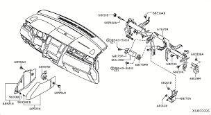 nissan versa hatchback oem parts nissan usa estore instrument panel pad cluster lid 680 inst fitting
