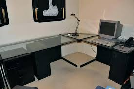 large glass office desk large glass desk large l shaped glass desk big glass office desk