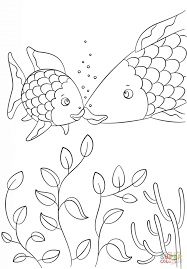Small Picture Small Fish Speaks to Rainbow Fish coloring page Free Printable