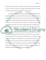 in praise of low voter turnout essay example topics and well   text preview