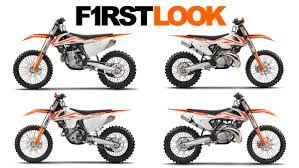 ktm first look first look 2017 ktm motocross and cross country