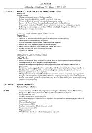 Operations Associate Manager Resume Samples Velvet Jobs