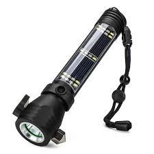 5v 200m 10 In 1 Buiten Oplaadbare Zonne Energie Led Zaklamp Emergency Torch Venster Breaker