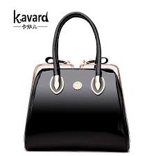 kavard luxury patent leather handbags women bags designer wedding handbag las evening bag bride tote bag vintage frame bolsos canada 2019 from smart78