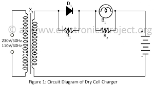 dry cell charger electronics project circuit diagram of dry cell charger