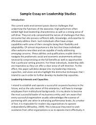 good introduction for leadership essay  essay on leadership echeat ""