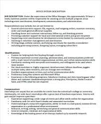 Biologist Job Description General Office Intern Job Description ...