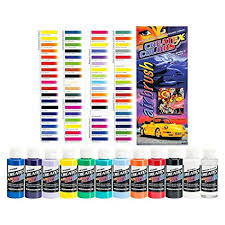Createx Colors Ready To Use Airbrush Paint Set Of All 11 Opaque Colors Plus Free Bonus