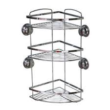 Chrome 3 Tier Suction Bathroom Caddy Home Store More