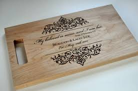 custom cutting board laser engraved 8 14 personalized wood