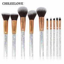 chileelove marble stripe pro makeup brushes kit for blush bulk powder eye shadow highlight star hair pattern brush best makeup kabuki brush from grega