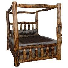 Kunkle Holdings LLC Rustic Aspen Log Canopy Bed - Walmart.com