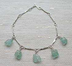 sterling silver and sea gl necklace