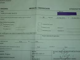 Medical Certificate Singapore Template Capital Letters