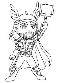 Thor 5 Super H Ros Coloriages Imprimer