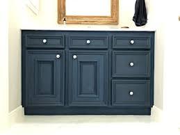 blue diy chalk paint bathroom vanity