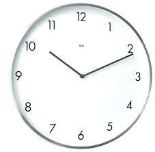 white wall clock ikea modern clocks contemporary images aluminum kitchen white wall clock ikea