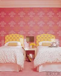 Bedroom Design Pink Twin Girl Bedroom Artistic Wallpaper Girls
