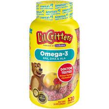 L'il Critters Gummy <b>Omega</b>-<b>3</b> DHA, <b>120</b> ct - Walmart.com - Walmart ...