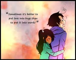 Cartoon Love Quote Sometimes It's Better To Put Love Into Hugs Mesmerizing Cartoon Images Of Love Quotes