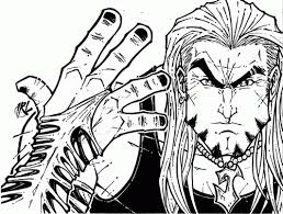 Wwe Coloring Pages Of Jeff Hardy Coloring Home