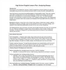 High School Lesson Plan Template Awesome Health Education Lesson Plans For High School Free Health Education