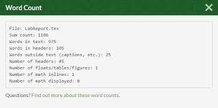 packages is there any way to do a correct word count of a latex this will show these stats stats