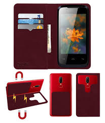 Lava Iris 356 Flip Cover by ACM - Red 2 ...