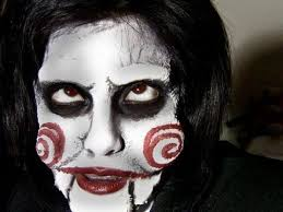 jigsaw puppet billy saw easy makeup tutorial