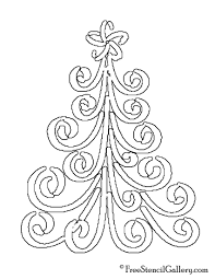 Christmas Tree Stencil 17 Free Stencil Gallery