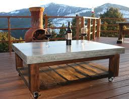 concrete coffee table patio