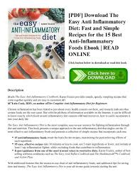 Anti Inflammatory Foods Chart Pdf Download The Easy Anti Inflammatory Diet Fast And