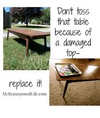 Old Coffee Table Makeovers Vintage Coffee Table Makeover My Repurposed Life