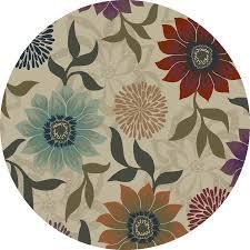 oriental weavers of america berland beige round indoor woven nature area rug common 8