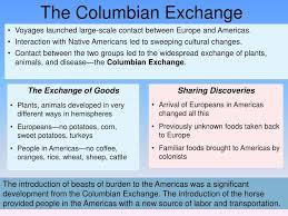 Ppt Columbian Exchange Powerpoint Presentation Free